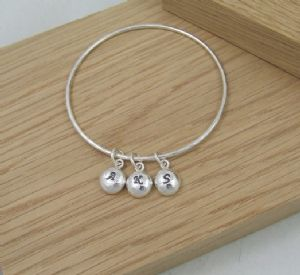 """Say it in Silver"" Personalised Bangle"